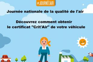 "Journée nationale de la qualité de l'air - Certificat ""Crit'Air"""